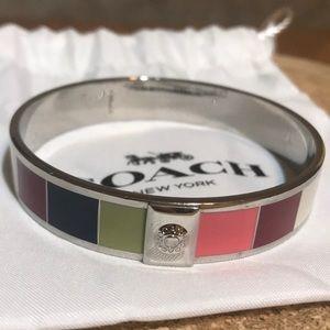 COACH Legacy Stripe Bangle Bracelet